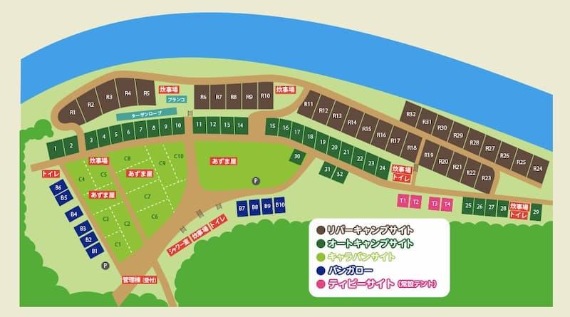 巴川オートキャンプ場MAP