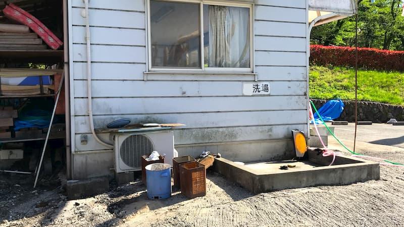 武甲キャンプ場洗い場