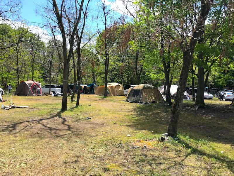 武甲キャンプ場林間サイト