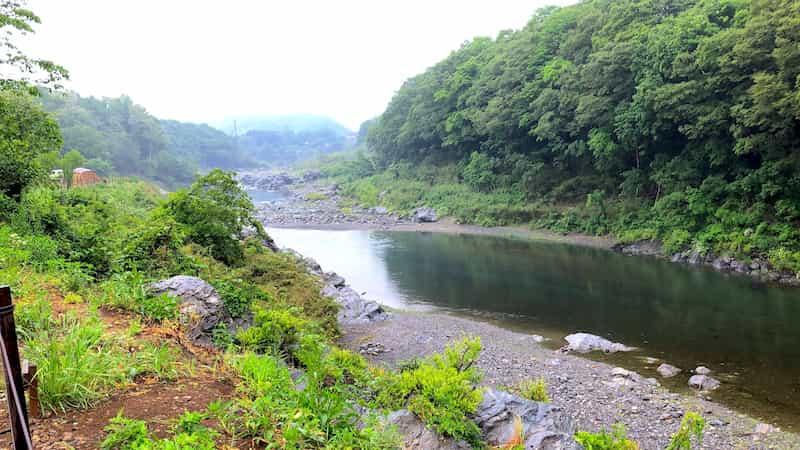 川沿いの景色