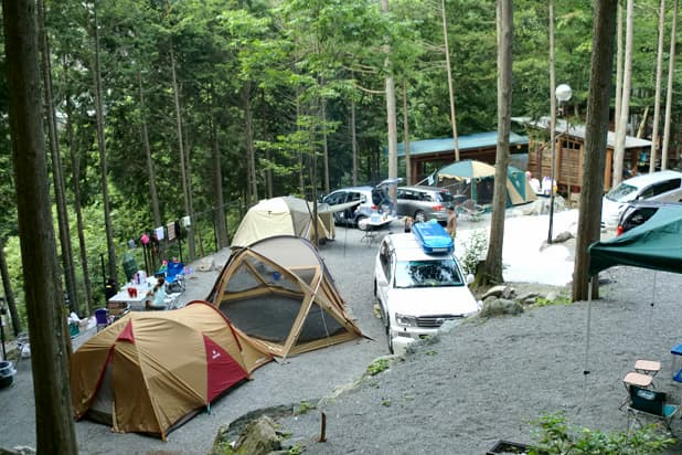 つちうちキャンプ場オートサイト