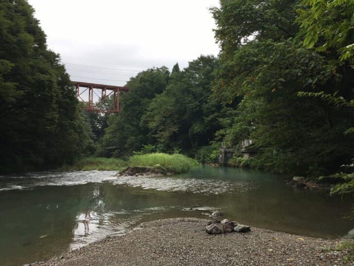 橋立川キャンプ場鉄橋