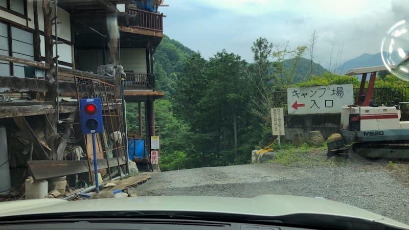 キャンプ場の坂道