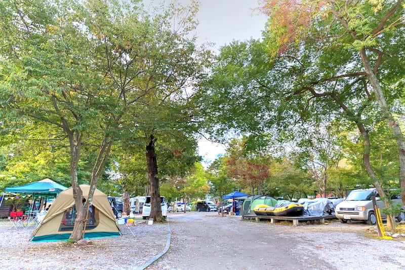 リバーパーク上長瀞オートキャンプ場オートサイト