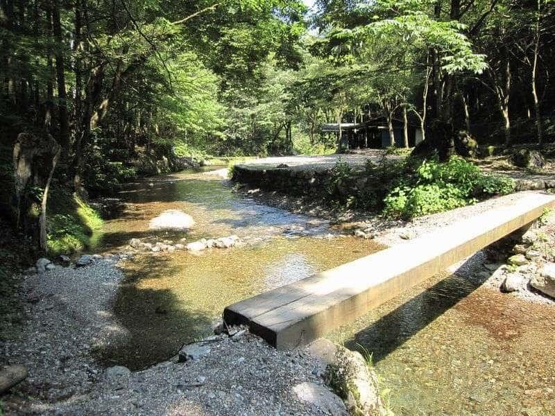 大鳩園キャンプ場川遊び