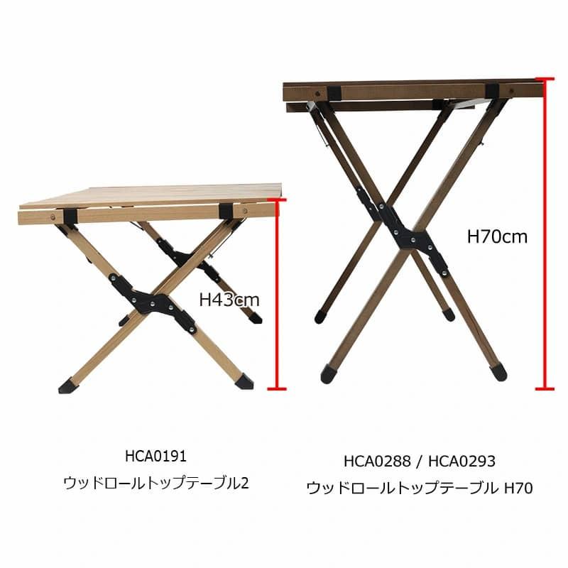 高さが違うテーブル