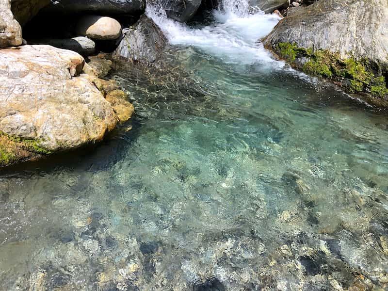 川の水がきれい